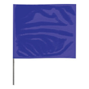 Presco Stake Flags, 2 in x 3 in, 21 in Height, PVC; Steel Wire, Blue, 100/BDL, #2321B