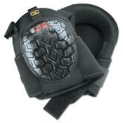 CLC Custom Leather Craft Professional Gel Kneepads, Elastic Upper Straps w/ Buckle-Style Fasteners, Black, 1/PR, #G340