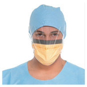 Kimberly-Clark Professional Fluidshield Surgical Mask with Visor, Fog-Free, Clear/Orange, 4/CA, #48237
