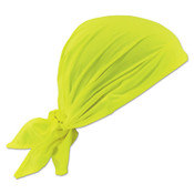 Ergodyne Chill-Its 6710CT Evaporative Cooling Triangle Hats w/ Cooling Towel, Hi-Vis Lime, 6/CA, #12586