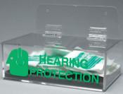 Brady Compact Ear Plug Dispenser, 6 x 3, Clear, 1/EA, #2019L