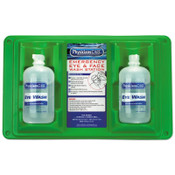 First Aid Only Wall Mountable Eyewash Stations, Double 16 oz. Bottles, 6 per case, 6/CA, #90500001