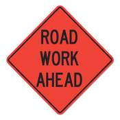 Cortina Road Work Ahead Signs, Orange, Nonreflective, 36 in Long, 1/EA, #078003716L