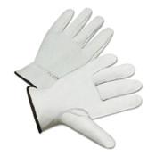 Anchor Products 4200 Series Premium Grain Goatskin Driver Gloves, Medium, Unlined, White, 12 Pair, #4200M