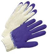 Anchor Products Latex Coated Gloves, Men's, Blue/White, 12 Pair, #39C122L