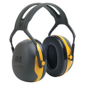 3M PELTOR X Series Ear Muffs, 24 dB NRR, Black/Yellow, Over the Head, 10/CA, #7000104071