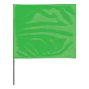 Presco Stake Flags, 2 in x 3 in, 24 in Height, Green Glo, 1000/BOX, #2324GG