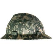 MSA Freedom Series V-Gard Hard Hats, Fas-Trac Ratchet, Full Brim, Camouflage, 1/EA, #10104254