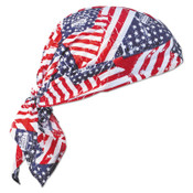 Ergodyne Chill-Its 6710 Evaporative Cooling Triangle Hats w/Cooling Towel, Stars/Stripes, 6/CA, #12581