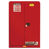Justrite Safety Cabinets for Combustibles, Manual-Closing Cabinet, 60 Gallon, Red, 1/EA, #894511