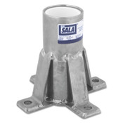 Capital Safety Advanced Floor Mount Sleeve Davit Bases, Davit Base, 14.5lb, 1/EA, #8518347