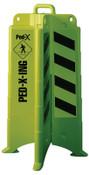 Eagle Mfg 00257 PED CROSSING BARRICADE LIME GREEN W/SHEETI, 1/EA, #1840PEDX