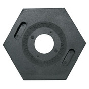 TrafFix Devices, Inc. Delineator Tube Base Only, Hex, 8 lb, Rubber, Black, 1/EA, #42000TB8