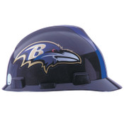 MSA Officially-Licensed NFL V-Gard Helmets, 1-Touch, Baltimore Ravens Logo, 1/EA, #818386