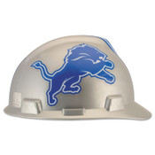 MSA Officially-Licensed NFL V-Gard Helmets, 1-Touch, Detroit Lions Logo, 1/EA, #818394