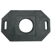 TrafFix Devices, Inc. Delineator Tall Cone Base, 30 lb, Rubber, Black, 1/EA, #42030CRU