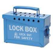 Brady Lock Box, 9 in L x 6 in H x 3 1/2 in W, Blue, 1/EA, #45190