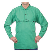 Best Welds Cotton Sateen Cape Sleeves, Snaps, Medium, Green, 1/EA, #CA650MSNAPS