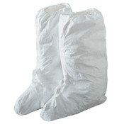DuPont™ Tyvek IsoClean Boot Covers with PVC Soles, Ankle Ties, Large, White, 100/CA, #IC457SWHLG01000B