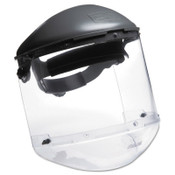 Honeywell Dual Crown Faceshield Systems, 4 in Crown, 3C Ratchet, Clear/Noryl, 1/EA, #FM400DCCL