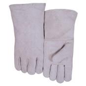 Best Welds Leather Welder's Gloves, Shoulder Split Cowhide, Large, Gray, 1/PR, #200GC