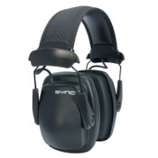 Honeywell Sync Stereo Earmuff, 25 dB NRR, Black, Over the Head, 1/EA, #1030110
