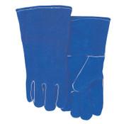 Best Welds Leather Welding Gloves, Shoulder Split Cowhide, Large, Blue, 1/PR, #300GC