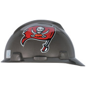 MSA Officially-Licensed NFL V-Gard Helmets, 1-Touch, Tampa Bay Buccaneers Logo, 1/EA, #818412