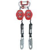 Honeywell Twin Turbo Fall Protection System With G2 Connector, 6 ft, 3,600 lb, Red, 1/EA, #MFLC3Z76FT