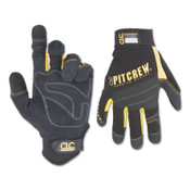 CLC Custom Leather Craft Pit Crew Gloves, Black, Medium, 6/BX, #220BM