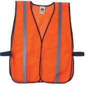 Ergodyne GloWear 8020HL Non-Certified Standard Safety Vests, One Size, Orange, 1/EA, #20030