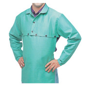 Best Welds Cotton Sateen Cape Sleeves, 14 in Long, Snaps Closure, Large, Visual Green, 1/EA, #CA650LSNAPS