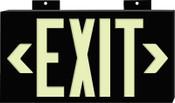 Brady Glo Exit Signs, Exit, Black, 1/EA, #37851B