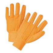 Anchor Products 1000 Series Canvas Gloves, Large, Orange, Knit-Wrist Cuff, 12 Pair, #K81SCNCORI