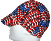 Comeaux Caps Deep Round Crown Caps, One Size Fits All, Stars & Stripes, 1/EA, #2000ESS