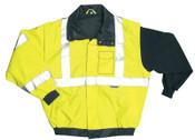 OccuNomix Bomber Jackets, 4X-Large, Yellow, 1/EA, #LUXTJBJY4X