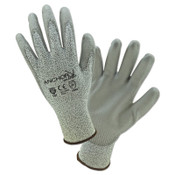 Anchor Products Micro-Foam Nitrile Dipped Coated Gloves, Large, Black/Gray, 12 Pair, #6070L