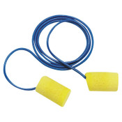 3M E-A-R Classic Foam Earplugs 311-4101, PVC, Yellow, Metal Detectable with Cord, 200/BOX, #7000127210