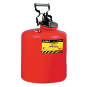 Eagle Mfg Waste Disposal Cans, Hazardous Waste Can, 5 gal, Red, Galvanized Steel, 1/CAN, #1425