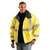 OccuNomix Bomber Jackets, Large, Yellow, 1/EA, #LUXTJBJYL