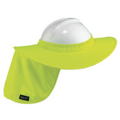 Ergodyne Chill-Its Hard Hat Brim with Shade, Lime Green, 6/CA, #12640