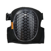 ERGODYNE 367 Round Cap Lightweight Gel Knee Pads, Strap/Buckle, Black, 6/PK, #18467