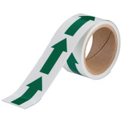 Brady Glow-In-The-Dark Arrow Tape, 2 in x 5 yd, Green/Phosphorescent, 1/RL, #90973
