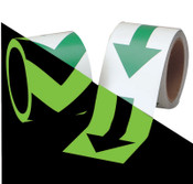 Brady Glow-In-The-Dark Tape, 2 in x 5 yd, Green/Phosphorescent, 1/RL, #90971