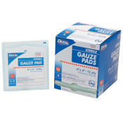 Honeywell Gauze Pads, Sterile, 4 in x 4 in, 1/BX, #67444