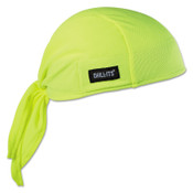Ergodyne Chill-Its 6615 High-Performance Dew Rags, 6 in X 20 in, Hi-Vis Lime, 6/CA, #12476
