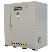 Justrite Non-Combustible Outdoor Safety Locker-Natural Draft Ventilation, (6) 55gal drums, 1/EA, #911060