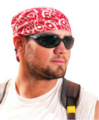 Ergodyne Chill-Its 6710 Evaporative Cooling Triangle Hats, 8 in X 13 in, Red Western, 24/CA, #12325