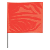 Presco Stake Flags, 2 in x 3 in, 18 in Height, Red Glo, 100/BDL, #2318RG