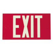 Brady Glo Exit Signs, Red, 1/EA, #90885B
